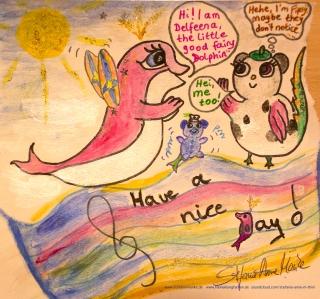 Comic schöner Tag Delfeen aund Fipsy